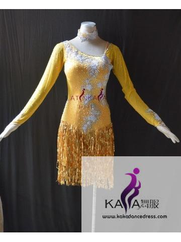 KAKAL1493,Women Latin Dance Wear,Girls Salsa Practice Dance Dress Tango Samba Rumba Chacha Dance Dress,Latin Dance Dress