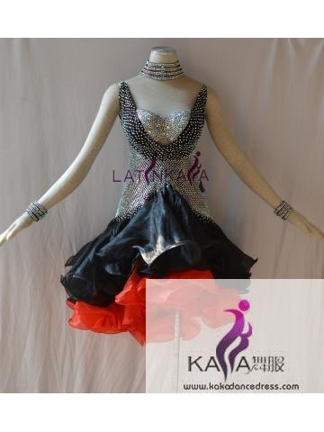 KAKAL1497,Women Latin Dance Wear,Girls Salsa Practice Dance Dress Tango Samba Rumba Chacha Dance Dress,Latin Dance Dress