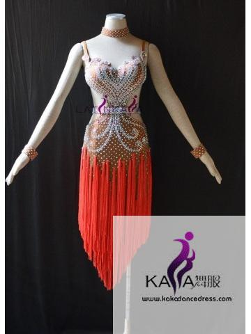 KAKAL1502,Women Latin Dance Wear,Girls Salsa Practice Dance Dress Tango Samba Rumba Chacha Dance Dress,Latin Dance Dress