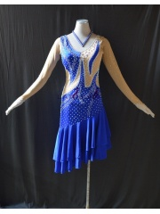 KAKAL1489,Women Latin Dance Wear,Girls Salsa Practice Dance Dress Tango Samba Rumba Chacha Dance Dress,Latin Dance Dress