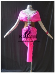 KAKAL1494,Women Latin Dance Wear,Girls Salsa Practice Dance Dress Tango Samba Rumba Chacha Dance Dress,Latin Dance Dress