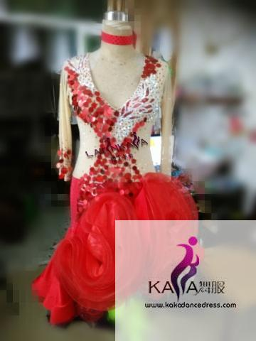 KAKAL1509,Women Latin Dance Wear,Girls Salsa Practice Dance Dress Tango Samba Rumba Chacha Dance Dress,Latin Dance Dress