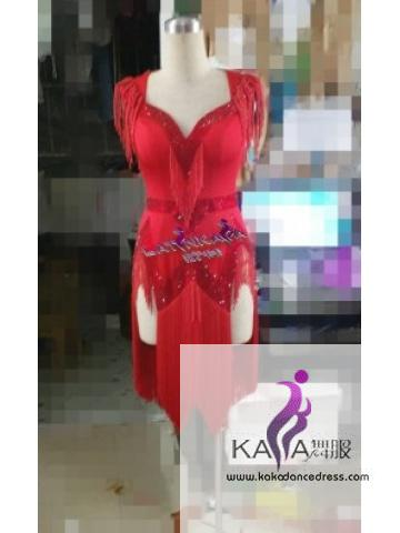 KAKAL1515,Women Latin Dance Wear,Girls Salsa Practice Dance Dress Tango Samba Rumba Chacha Dance Dress,Latin Dance Dress
