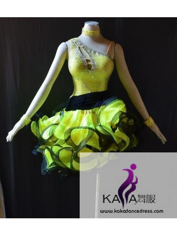 KAKAL1517,Women Latin Dance Wear,Girls Salsa Practice Dance Dress Tango Samba Rumba Chacha Dance Dress,Latin Dance Dress