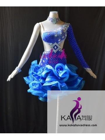 KAKAL1523,Women Latin Dance Wear,Girls Salsa Practice Dance Dress Tango Samba Rumba Chacha Dance Dress,Latin Dance Dress