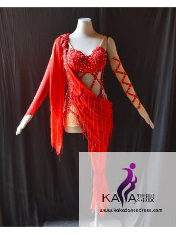 KAKAL1525,Women Latin Dance Wear,Girls Salsa Practice Dance Dress Tango Samba Rumba Chacha Dance Dress,Latin Dance Dress