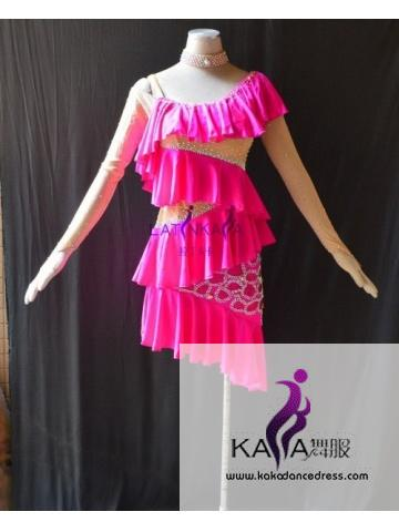 KAKAL1527,Women Latin Dance Wear,Girls Salsa Practice Dance Dress Tango Samba Rumba Chacha Dance Dress,Latin Dance Dress
