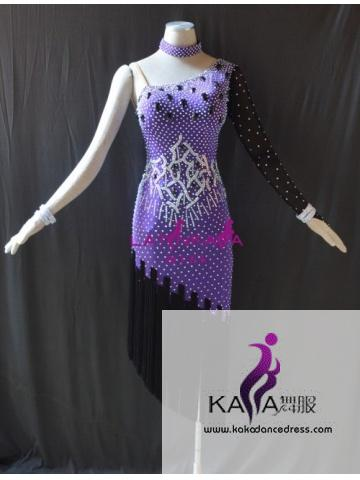 KAKAL1529,Women Latin Dance Wear,Girls Salsa Practice Dance Dress Tango Samba Rumba Chacha Dance Dress,Latin Dance Dress