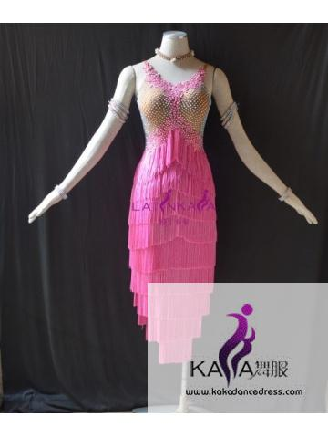 KAKAL1531,Women Latin Dance Wear,Girls Salsa Practice Dance Dress Tango Samba Rumba Chacha Dance Dress,Latin Dance Dress