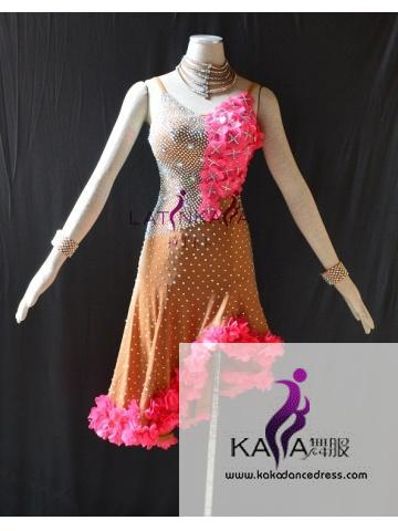 KAKAL1532,Women Latin Dance Wear,Girls Salsa Practice Dance Dress Tango Samba Rumba Chacha Dance Dress,Latin Dance Dress